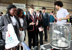 Students at the Big Bang Fair South East (c) STEM Sussex