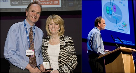 Graham (pictured with Julia Buckingham, former President of the Society) was awarded the Society for Endocrinology medal in 2011.