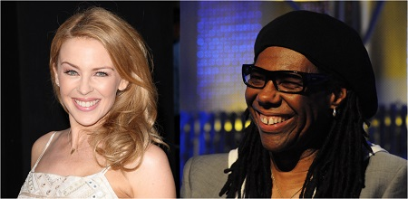 Pop legends Kylie and Nile Rodgers are both cancer survivors. Credits: Shutterstock (Kylie); Wikimedia Commons/Joe Mabel (Nile)