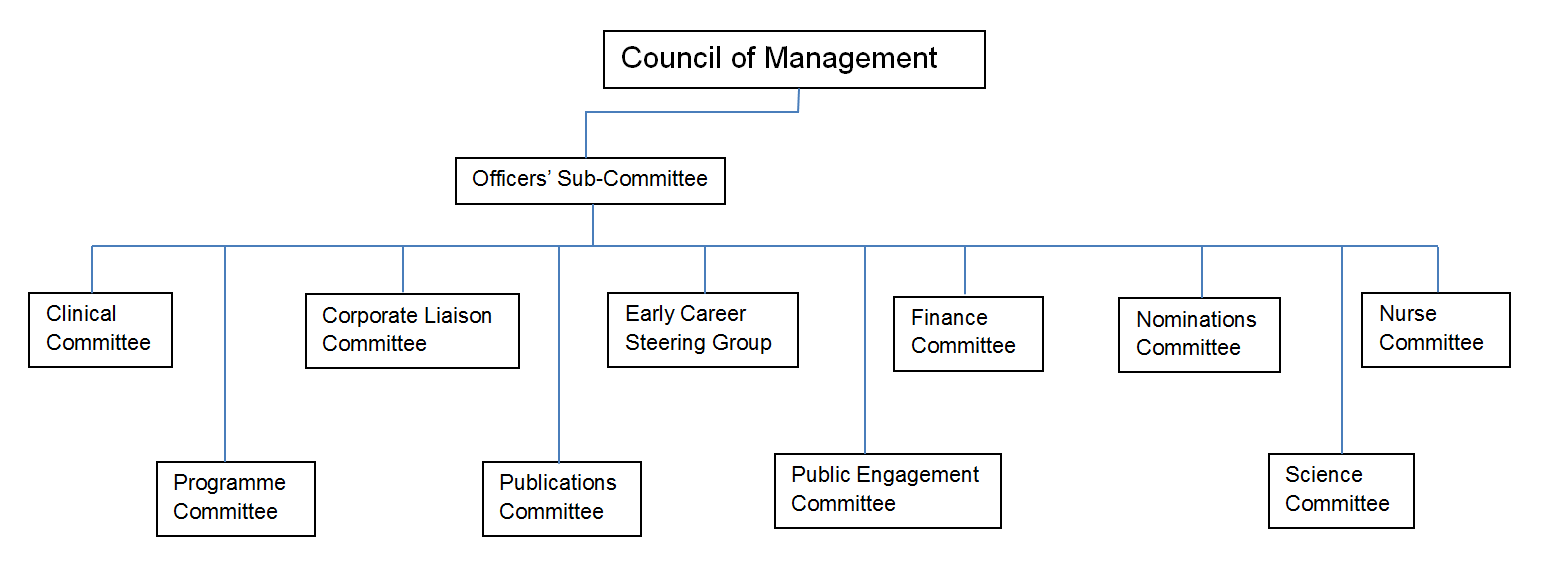 Society Council and committees organisational structure